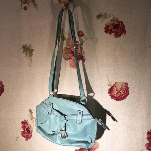 plum Handbags - Plum light blue purse